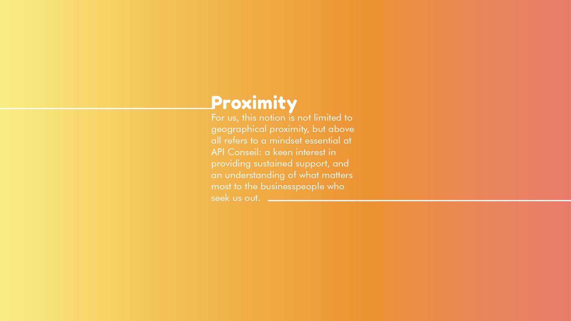 A.P.I. CONSEIL - Commitments
